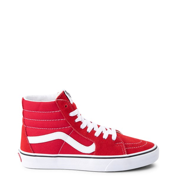 Main view of Vans Sk8 Hi Skate Shoe - Racing Red