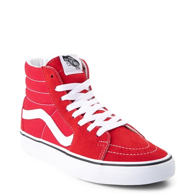 Alternate view of Vans Sk8 Hi Skate Shoe - Racing Red