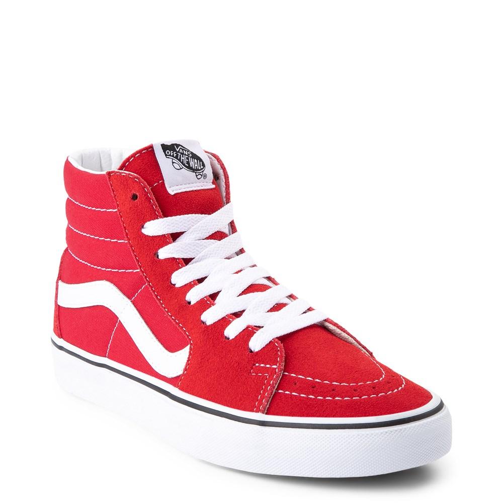 Vans Sk8 Hi Skate Shoe - Racing Red
