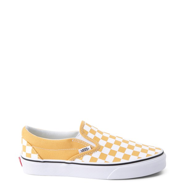 Main view of Vans Slip On Checkerboard Skate Shoe - Ochre Yellow