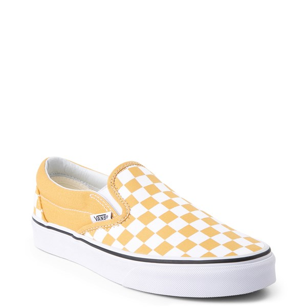 alternate view Vans Slip On Checkerboard Skate Shoe - Ochre YellowALT1