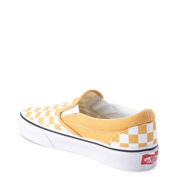 alternate view Vans Slip On Checkerboard Skate Shoe - Ochre YellowALT2