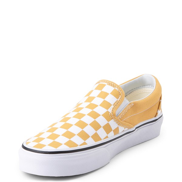 alternate view Vans Slip On Checkerboard Skate Shoe - Ochre YellowALT3