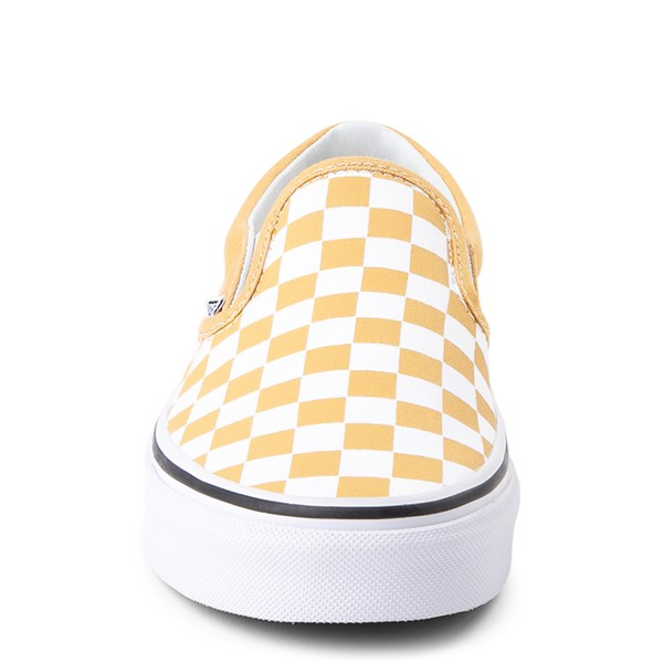 alternate view Vans Slip On Checkerboard Skate Shoe - Ochre YellowALT4
