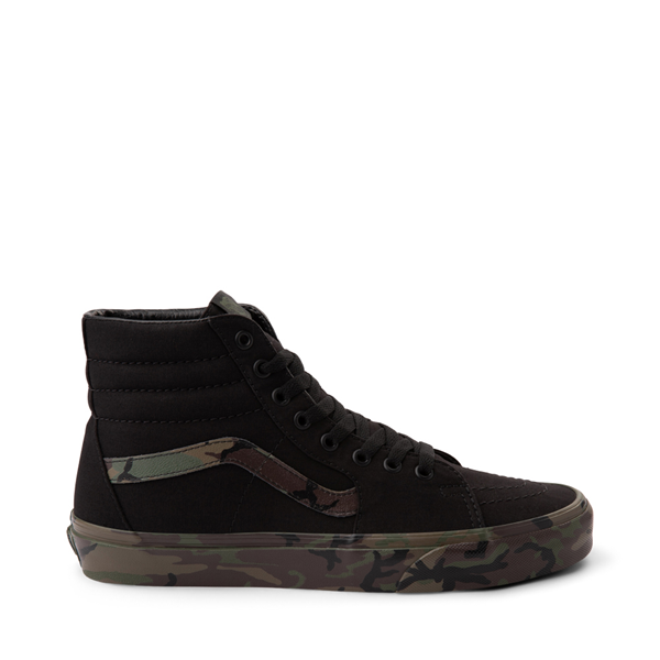Main view of Vans Sk8 Hi Skate Shoe - Black / Camo