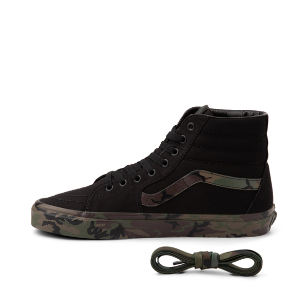 alternate view Vans Sk8 Hi Skate Shoe - Black / CamoALT1