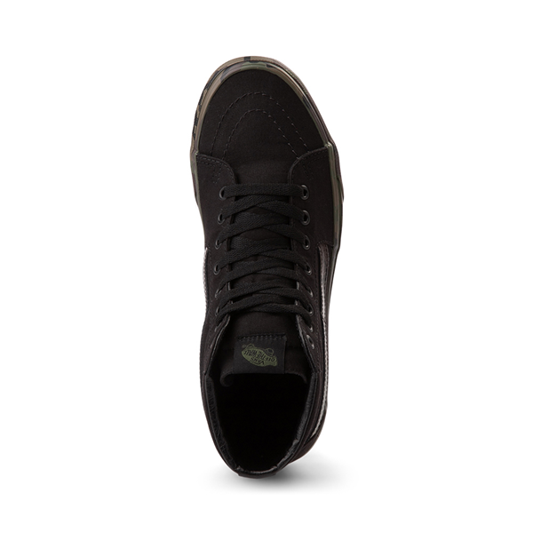 alternate view Vans Sk8 Hi Skate Shoe - Black / CamoALT2