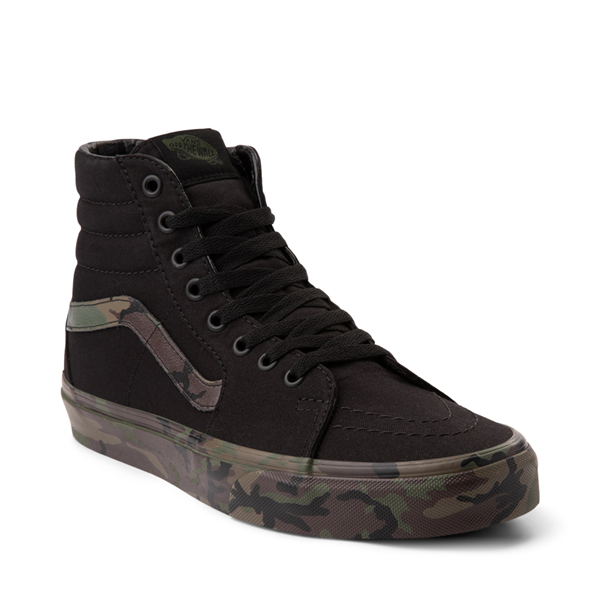 alternate view Vans Sk8 Hi Skate Shoe - Black / CamoALT5