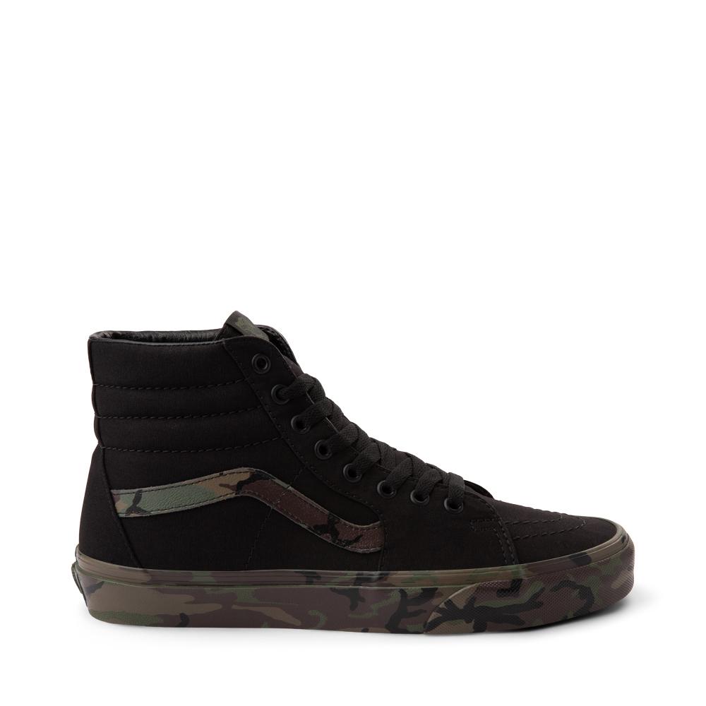 Vans Sk8 Hi Skate Shoe - Black / Camo