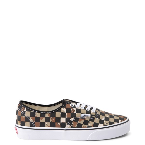 Vans Authentic Checkerboard Skate Shoe - Desert Camo