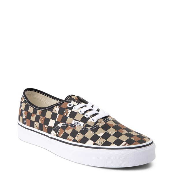 alternate view Vans Authentic Checkerboard Skate Shoe - Desert CamoALT1