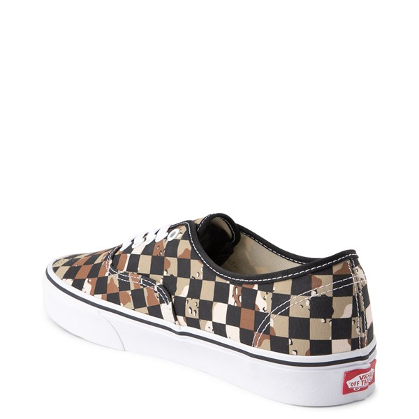 alternate view Vans Authentic Checkerboard Skate Shoe - Desert CamoALT2