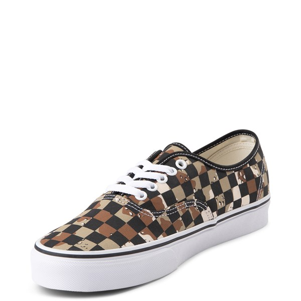 alternate view Vans Authentic Checkerboard Skate Shoe - Desert CamoALT3