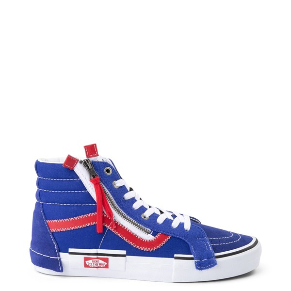 Vans Sk8 Hi Cut & Paste Skate Shoe - Blue / Red