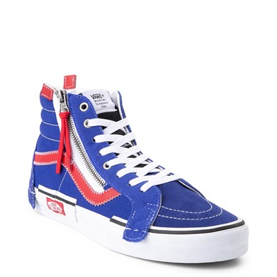 Alternate view of Vans Sk8 Hi Cut & Paste Skate Shoe - Blue / Red