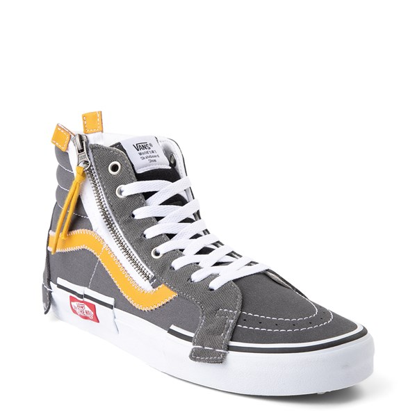 Alternate view of Vans Sk8 Hi Cut & Paste Skate Shoe - Gray / Yellow