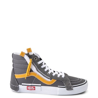 Main view of Vans Sk8 Hi Cut & Paste Skate Shoe - Gray / Yellow
