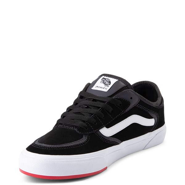 alternate view Vans Rowley Classic Skate Shoe - Black / WhiteALT3