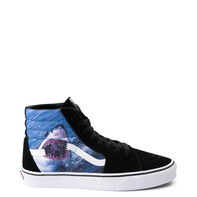 Main view of Vans x Discovery's Shark Week Sk8 Hi Skate Shoe