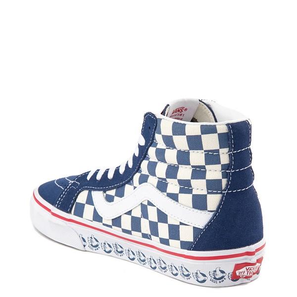 alternate view Vans Sk8 Hi BMX Checkerboard Skate Shoe - Blue / WhiteALT2