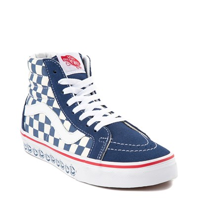 Alternate view of Vans Sk8 Hi BMX Checkerboard Skate Shoe - Blue / White