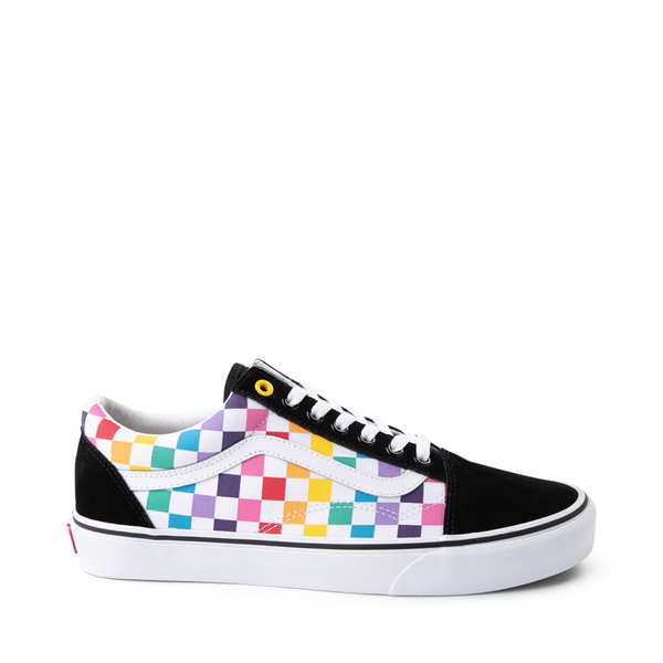 Vans Old Skool Rainbow Checkerboard Skate Shoe - Multi