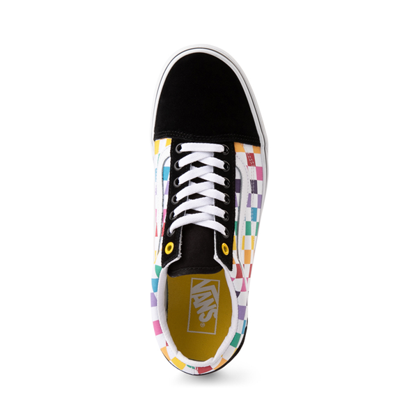 alternate view Vans Old Skool Rainbow Checkerboard Skate Shoe - MultiALT2