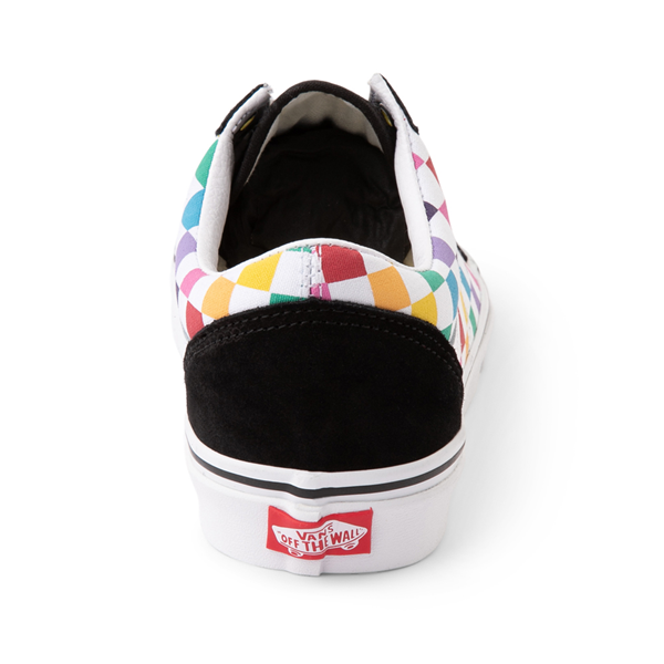 alternate view Vans Old Skool Rainbow Checkerboard Skate Shoe - MultiALT4