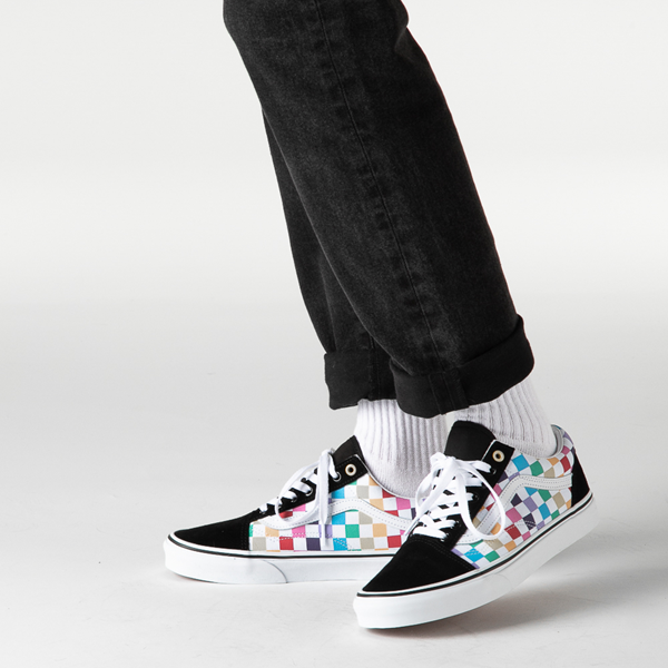 alternate view Vans Old Skool Rainbow Checkerboard Skate Shoe - MultiB-LIFESTYLE1