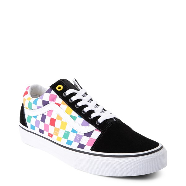 alternate view Vans Old Skool Rainbow Checkerboard Skate ShoeALT1