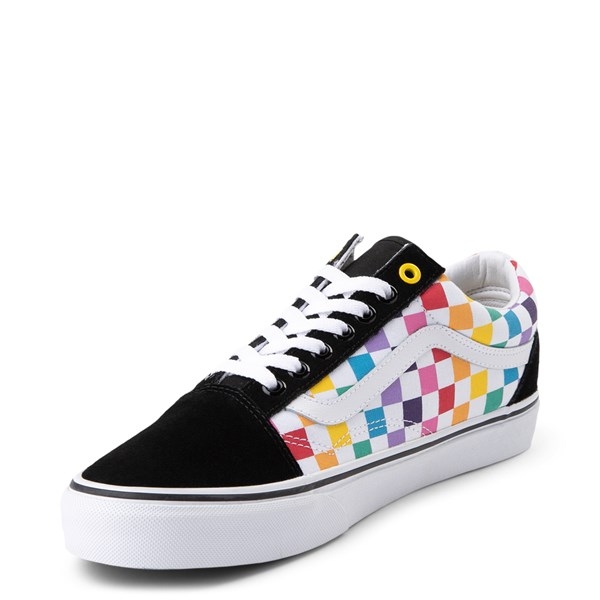alternate view Vans Old Skool Rainbow Checkerboard Skate Shoe - MultiALT3