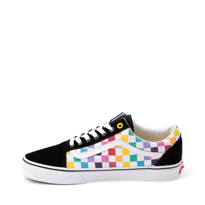 Alternate view of Vans Old Skool Rainbow Checkerboard Skate Shoe - Multi
