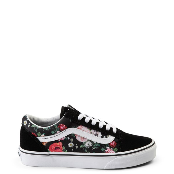 Default view of Vans Old Skool Garden Floral Skate Shoe - Black