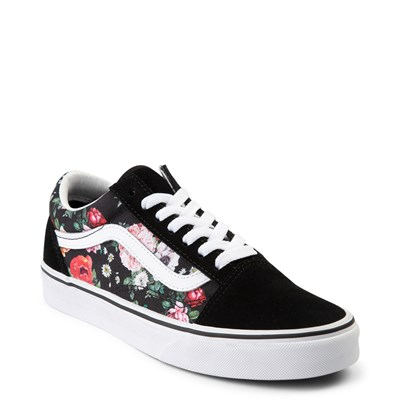 Alternate view of Vans Old Skool Garden Floral Skate Shoe - Black