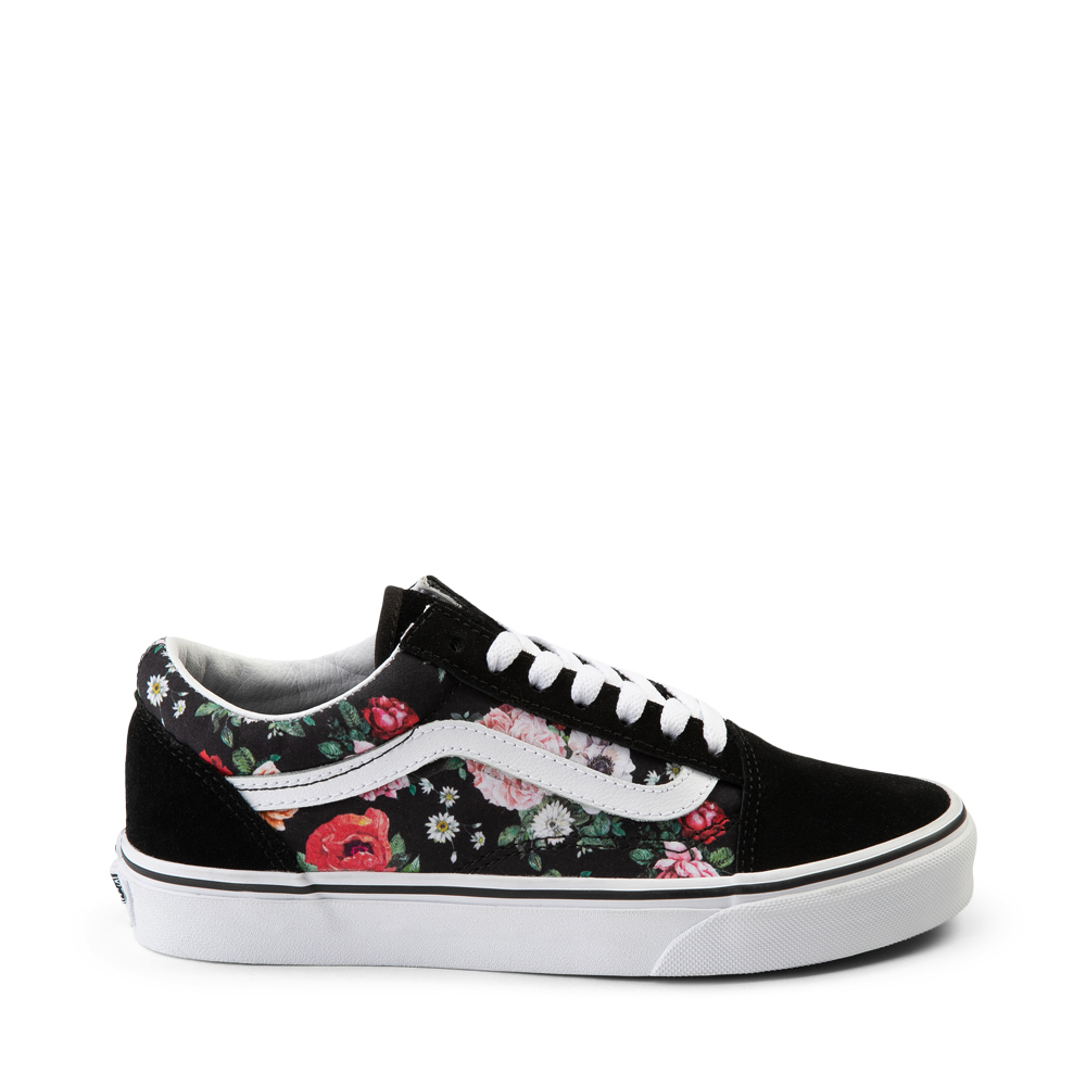 Vans Old Skool Garden Floral Skate Shoe - Black