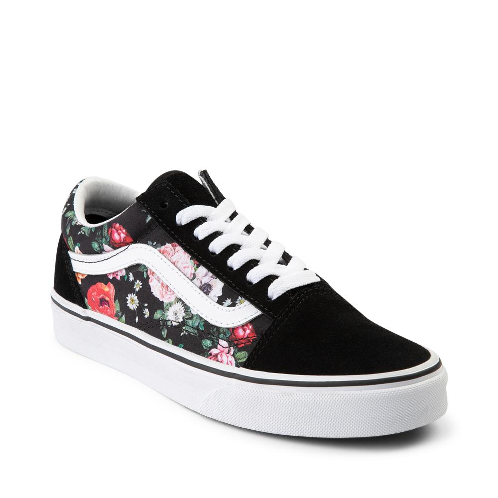 Vans Old Skool Garden Floral Skate Shoe - Black