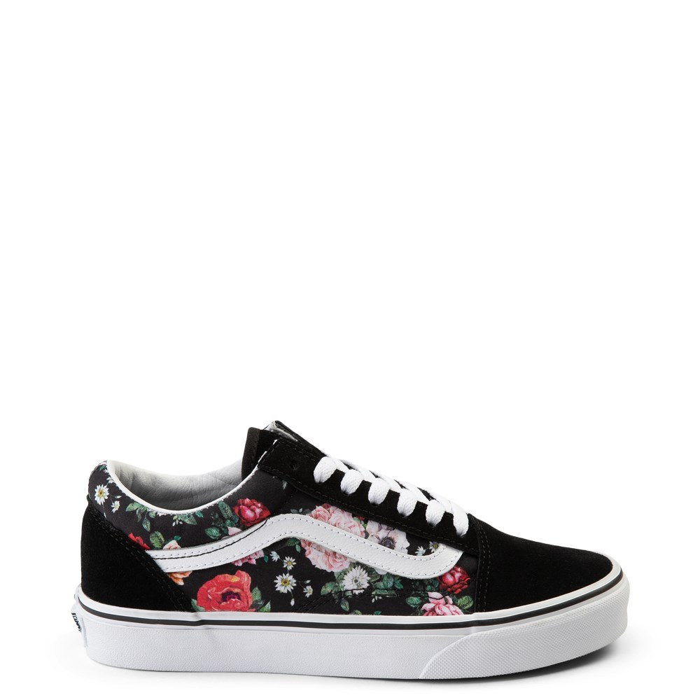 Vans Old Skool Garden Floral Skate Shoe Black
