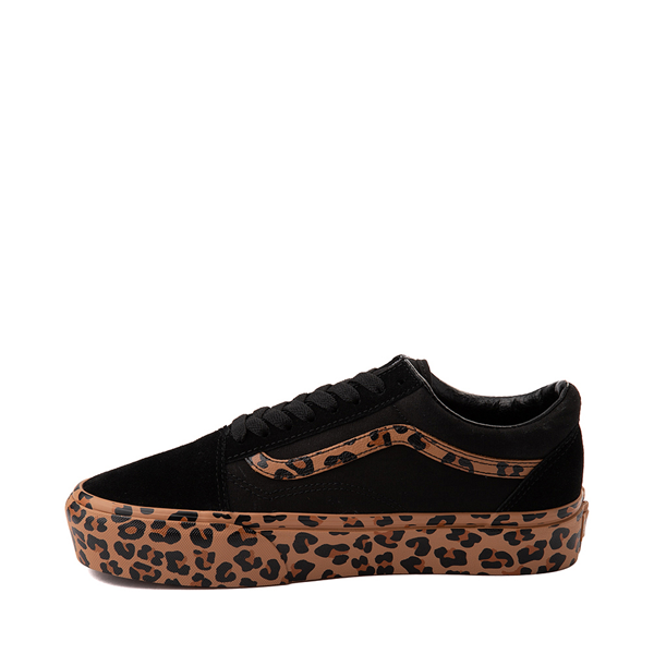 alternate view Vans Old Skool Platform Skate Shoe - Black / LeopardALT1