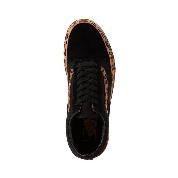 alternate view Vans Old Skool Platform Skate Shoe - Black / LeopardALT2