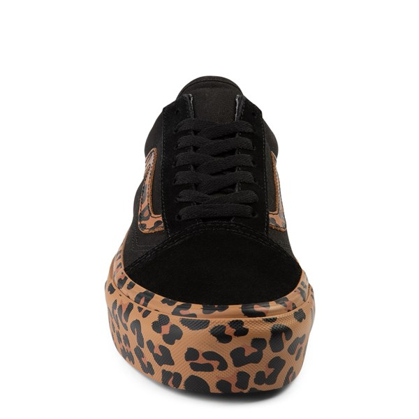 alternate view Vans Old Skool Platform Skate Shoe - Black / LeopardALT4