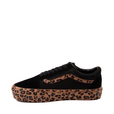 Alternate view of Vans Old Skool Platform Skate Shoe - Black / Leopard