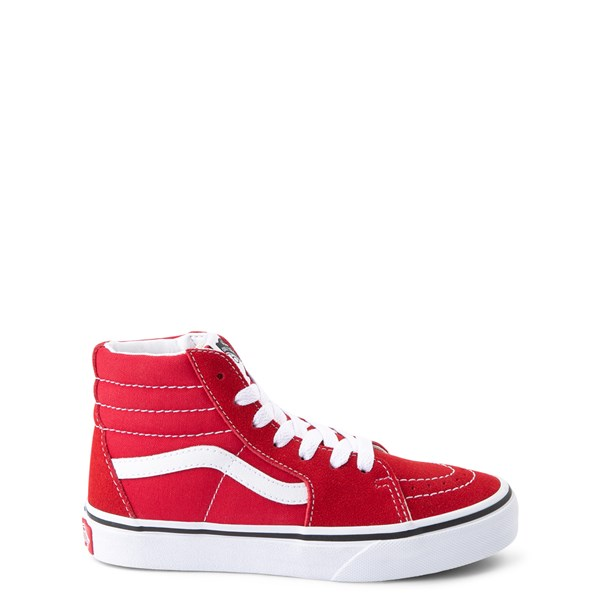 Main view of Vans Sk8 Hi Skate Shoe - Little Kid / Big Kid - Racing Red
