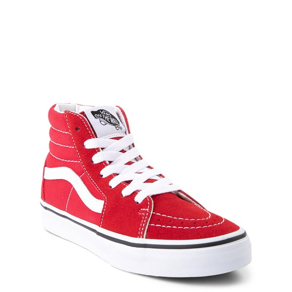 Alternate view of Vans Sk8 Hi Skate Shoe - Little Kid / Big Kid - Racing Red