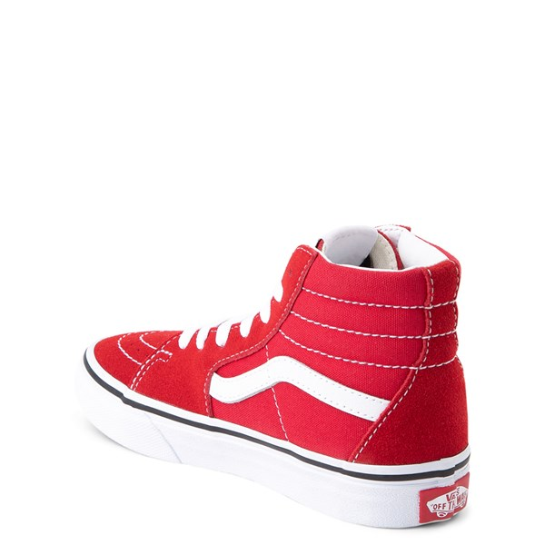 alternate view Vans Sk8 Hi Skate Shoe - Little Kid / Big Kid - Racing RedALT2