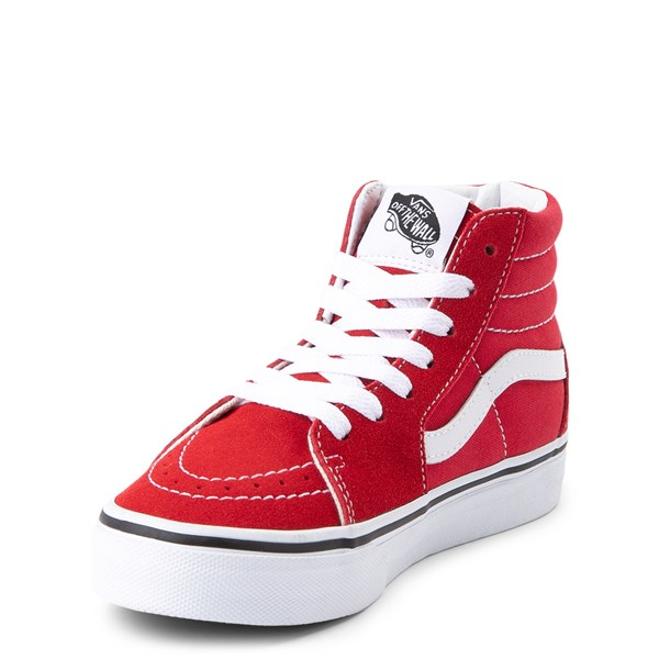 alternate view Vans Sk8 Hi Skate Shoe - Little Kid / Big Kid - Racing RedALT3