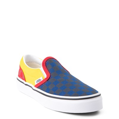 Alternate view of Vans Slip On OTW Rally Checkerboard Skate Shoe - Little Kid / Big Kid - Multi