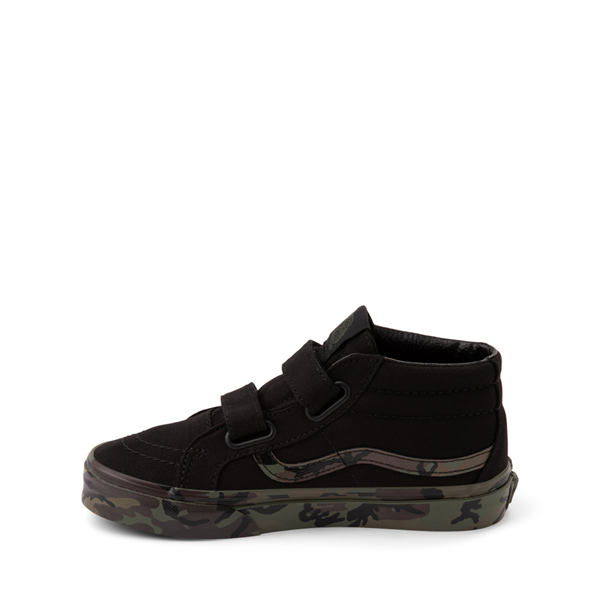 alternate view Vans Sk8 Mid Reissue V Skate Shoe - Little Kid - Black / CamoALT1