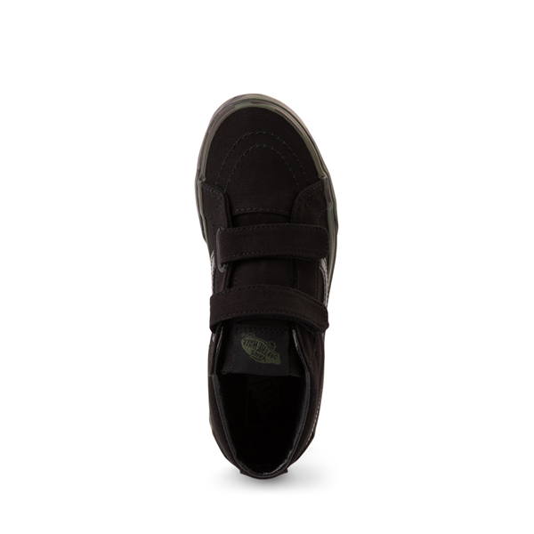 alternate view Vans Sk8 Mid Reissue V Skate Shoe - Little Kid - Black / CamoALT2