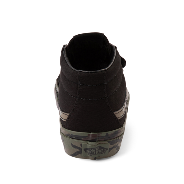 alternate view Vans Sk8 Mid Reissue V Skate Shoe - Little Kid - Black / CamoALT4