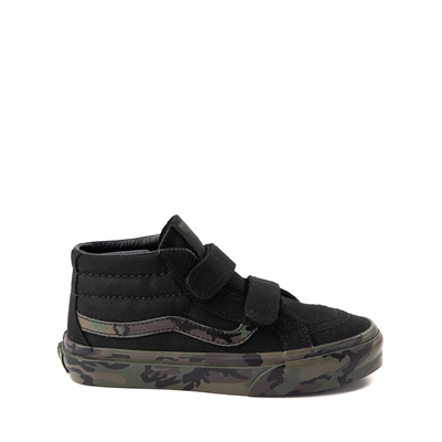 Main view of Vans Sk8 Mid V Skate Shoe - Little Kid - Black / Camo